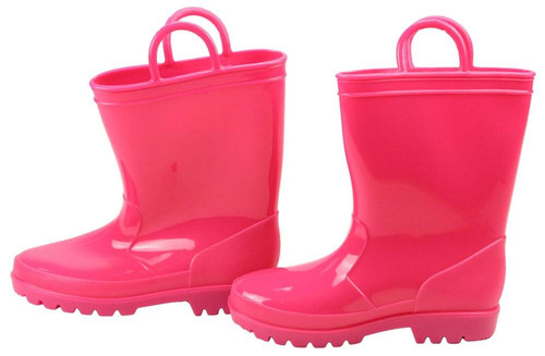 Rubber Rain Boot Containers (Set of 2): Pink