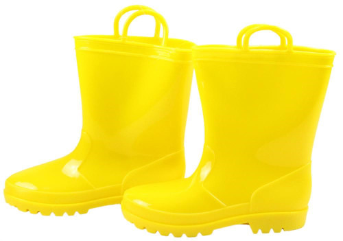 Rubber Rain Boot Containers (Set of 2): Yellow