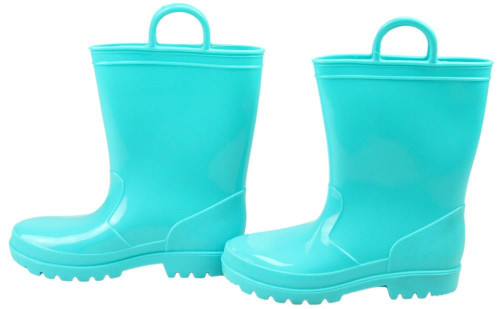 Rubber Rain Boot Containers (Set of 2): Turquoise
