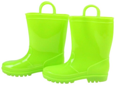 Rubber Rain Boot Containers (Set of 2): Lime Green