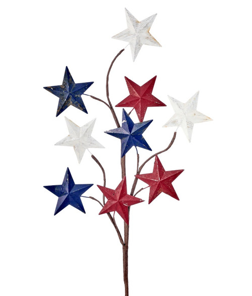 "28"" Metal Antique Stars Spray"