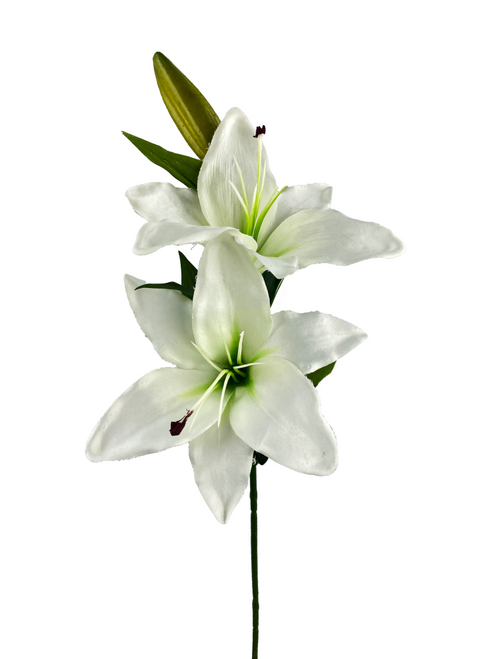 "26"" White Lily Spray"