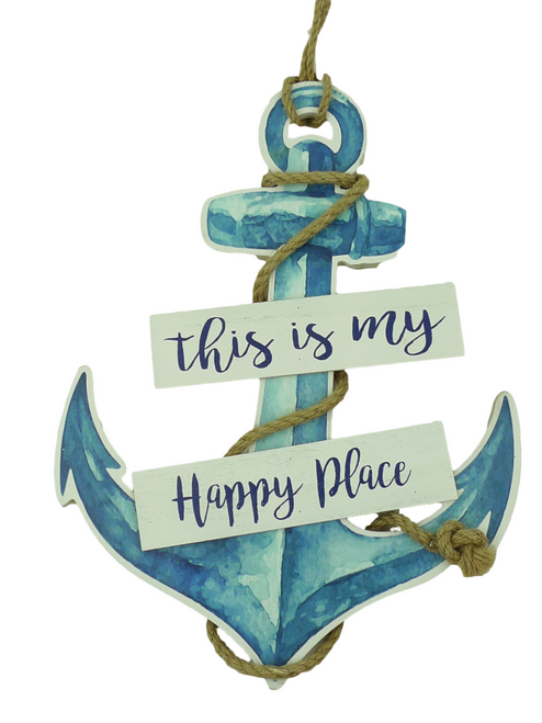 """14"""" Happy Place Anchor Sign"""