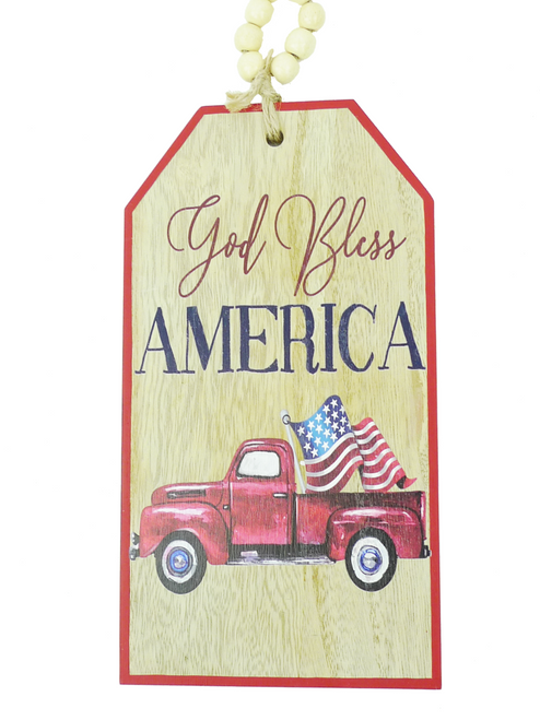 "12"" God Bless America Truck Sign"