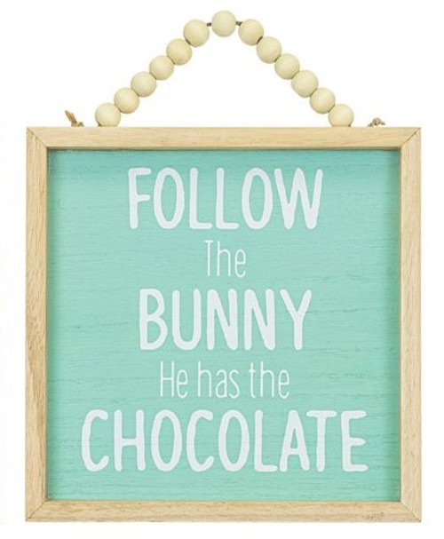 Follow the Bunny Framed Easter Hanger