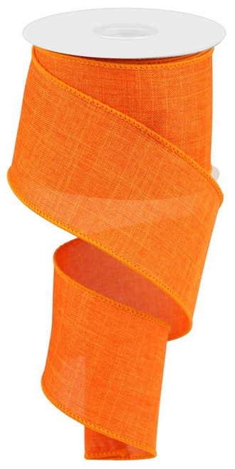 "New Orange Royal Faux Burlap Ribbon - 2.5"" x 10Yd"