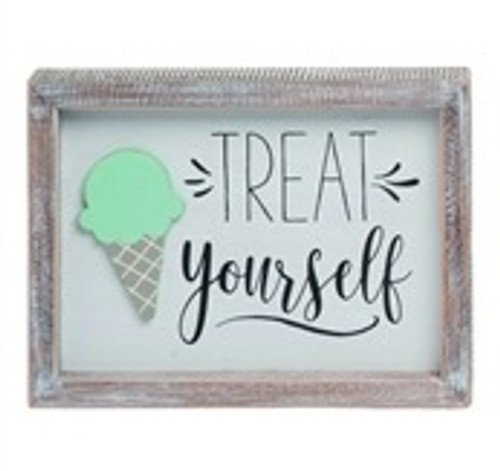 Treat Yourself Ice Cream Sign