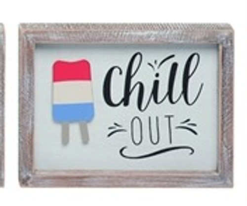Chill Out Popsicle Sign