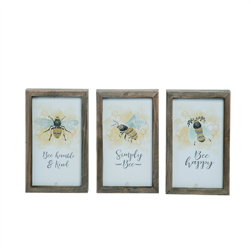 "8"" Framed Bee Signs"