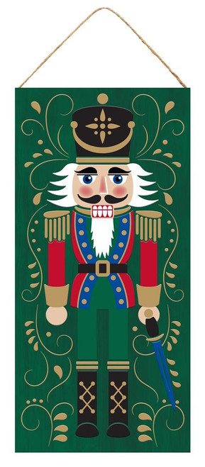 "12.5"" Nutcracker Christmas Sign: Green"