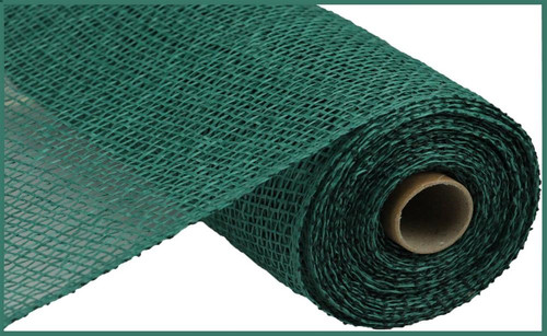 "10"" x 10yds Poly Burlap Mesh: Hunter Green"