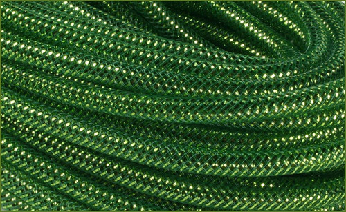 Metallic Deco Flex Tubing: Dk Green/Lime Foil - 8mm