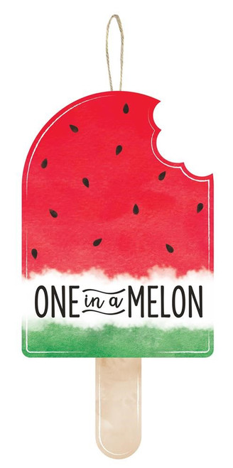 """13.5"""" One in a Melon Popsicle Sign"""