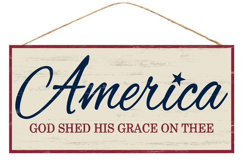 """12.5"""" America God Shed His Grace Sign"""
