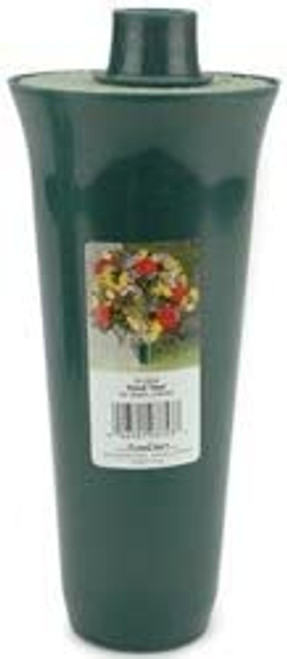 """9"""" Foam Filled Plastic Cemetery Vase w/ Removable Spike"""