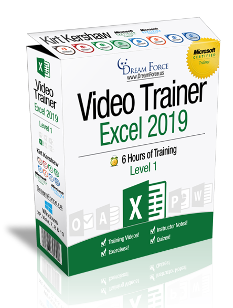 Excel 2019 Training Videos Level 1 - Download