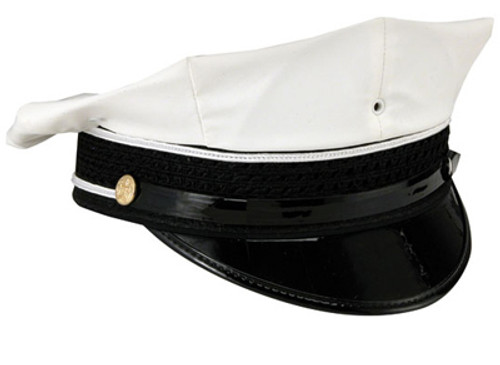 White Traffic 8 Point Hat