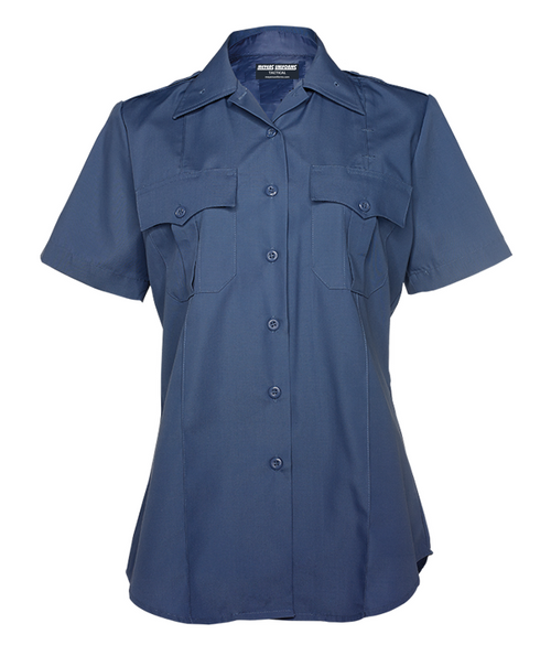 Med Blue Women's Short Sleeve