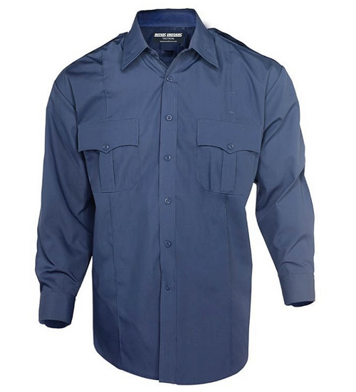 Med Blue Men's L/S Shirt