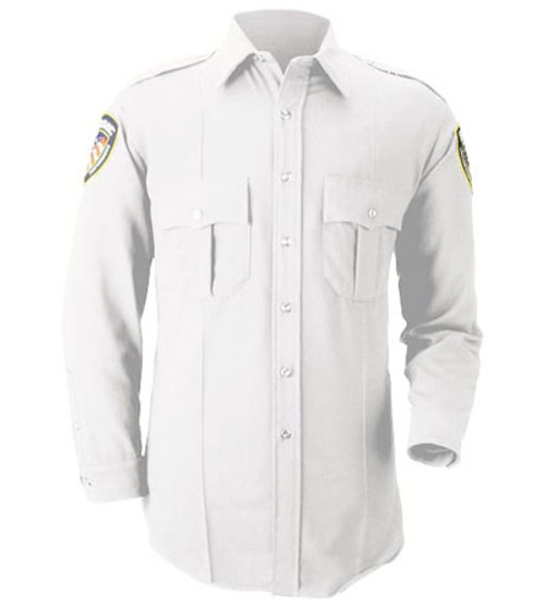 White Long Sleeve Uniform Shirt