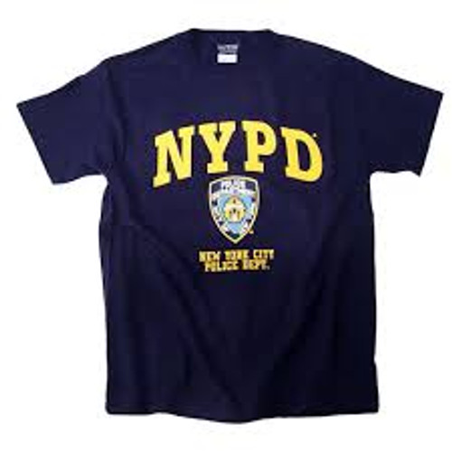 NYPD Tee Shirt w/ Color Print