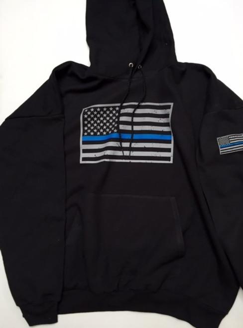 Blue Line Flag Pullover hoodie