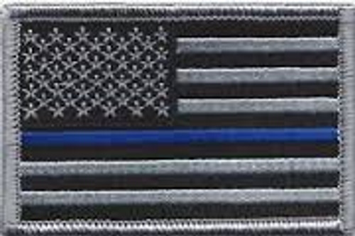 Blue Line Flag Patch