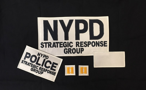 White Strategic Response Group Patches