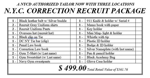 Correction Recruit Package Men's