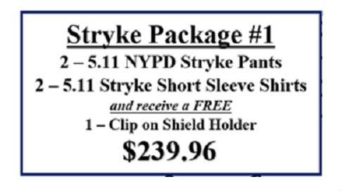 5.11 Stryke Package#1