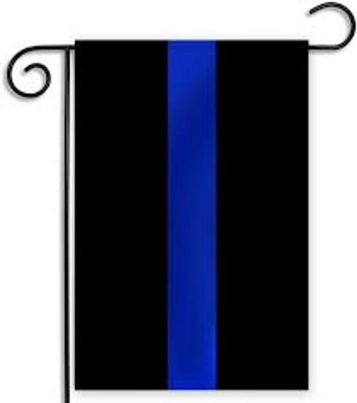 Garden Flag Blue Line Flag