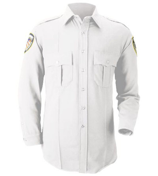 White Long Sleeve Uniform Shirt