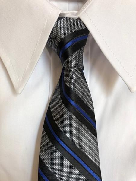 Blue Line Silk Tie