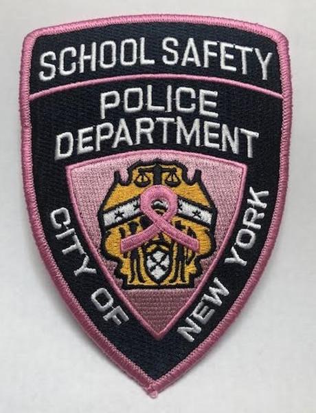 Pink School Safety Shoulder Patch
