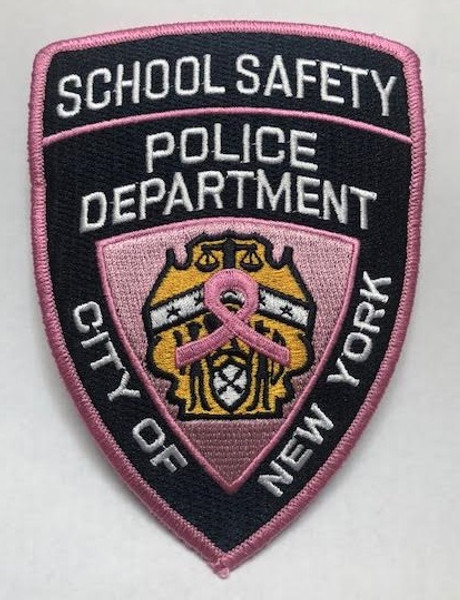 Pink School Safety Shoulder Patch