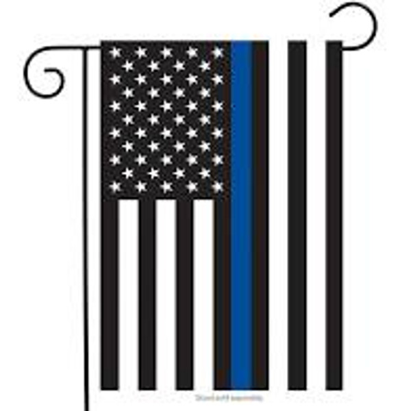 Garden Flag American Flag w/ Blue Line