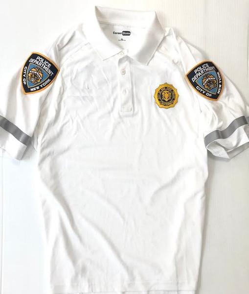 White Bike Polo Shirt