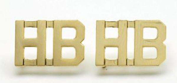 Double digit collar Brass