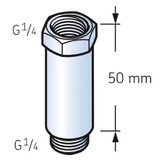 LAPE50 - SKF Automatic Lubricator Connector Extension - 50mm