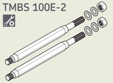 TMBS100E-2 - SKF Main rods with washers and nuts