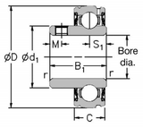 1230-30G2Z - RHP Self Lube Bearing Insert Diagram