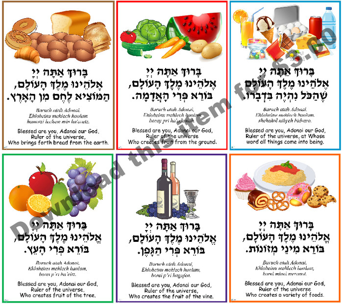 Brachot Poster 2 (a downloadable item)