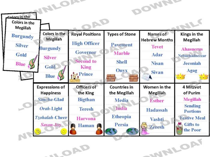 Megillah Quads in English (a downloadable item)