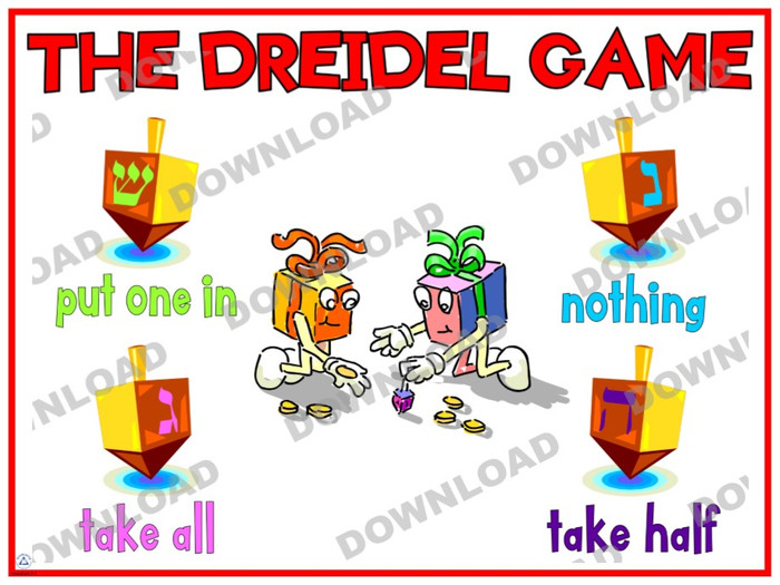 Dreidel Game Poster (a downloadable item)