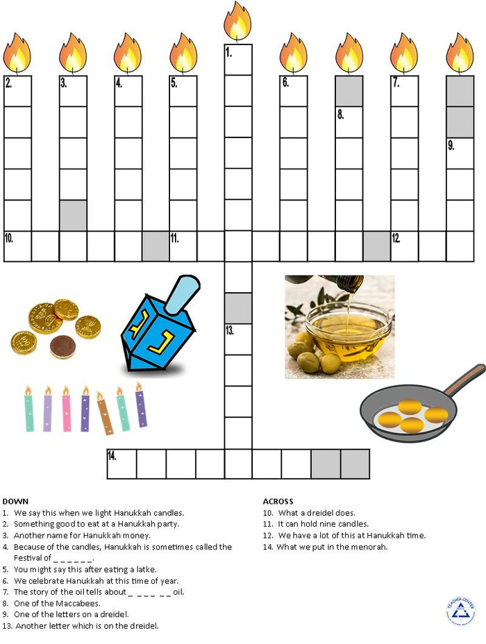 Hanukkah Crossword Puzzle