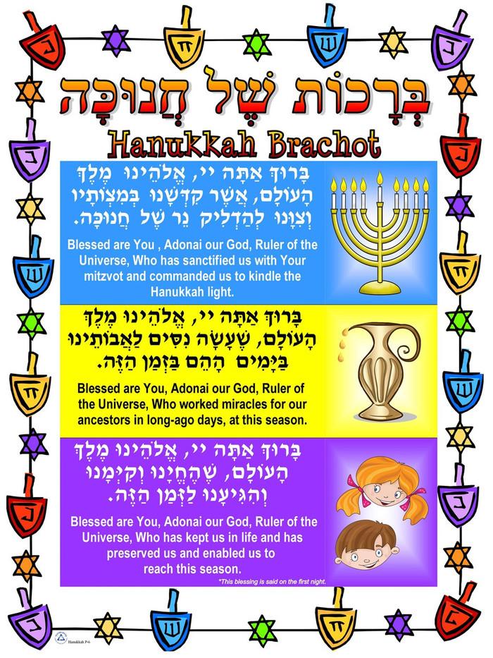Hanukkah Brachot Poster