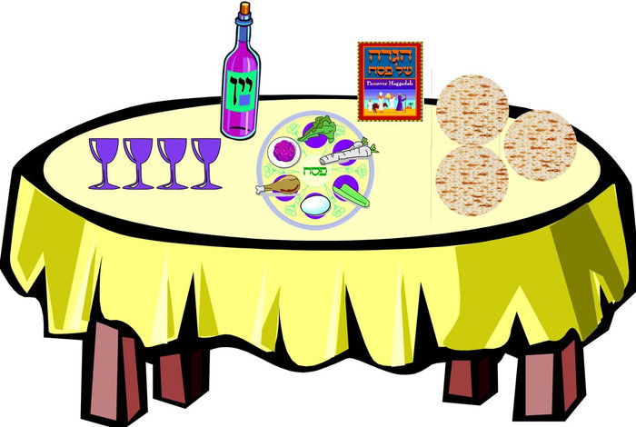 Setting the Passover Table
