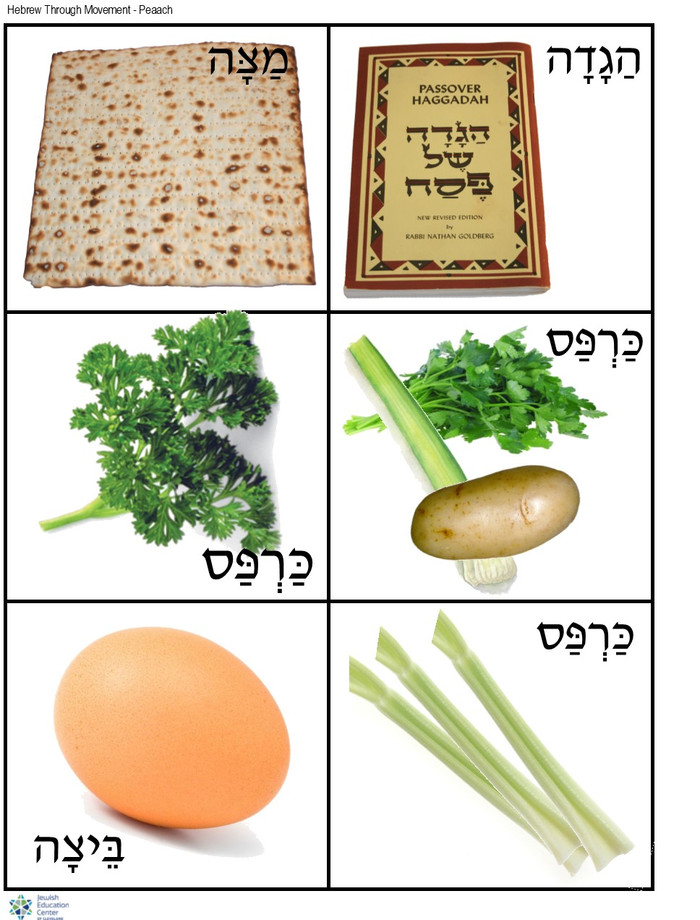Hebrew Through Movement: Pesach Pictures