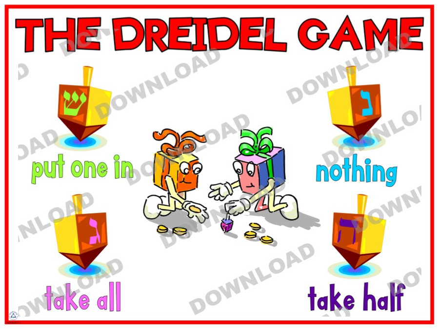 Dreidel Game Poster (a downloadable item)