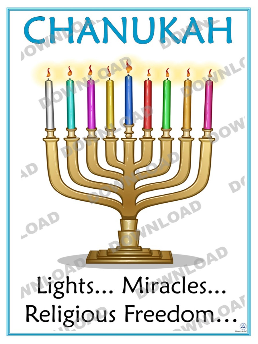 Lights, Miracles, Religious Freedom Poster (a downloadable item)